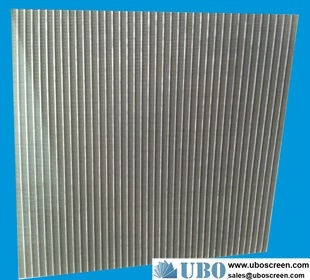 stainless steel flat panel wedge wire screens