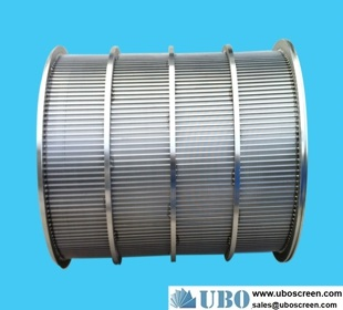 Wedge Wire cylinders are used as rotary screens