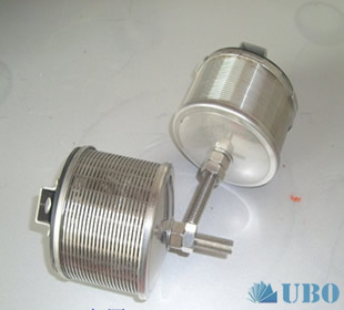 Long handled wedgewire screen water strainer