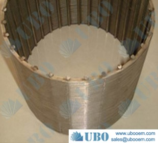 Wedge wire column strainer Hastelloy food industry