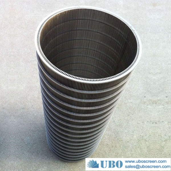 galvanized Johnson v wire water well screen for drilling water
