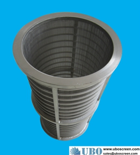 Paper pulp wedge wire pressure screen basket