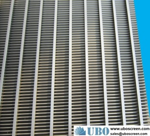 Low carbon steel wedge wire screen panel