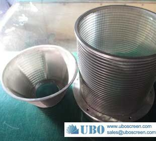 Stainless steel inflow wedge wire screen basket
