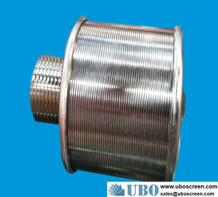 Stainless steel wedge wire filter nozzles for irrigation system