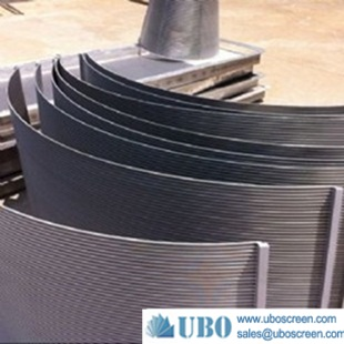wedge wire screen panel for food filtration