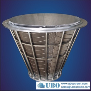 Stainless Steel V-wire Screen Centrifuge Conical Baskets
