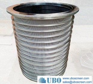 Wedge wire screen sink strainer baskets