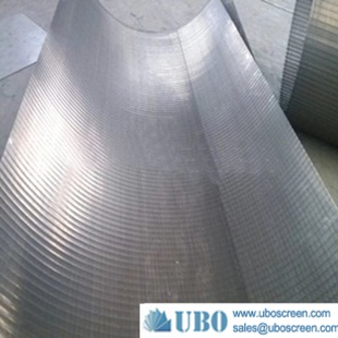Factory delivery Wedge Wire Wrapped Sieve Bend Screen in Steel Meshes for industrial water filter