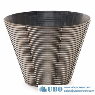 Jonson stainless steel wire wrapped screen coal centrifuge baskets