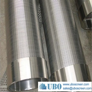Reverse rolled welded screen sand control tube