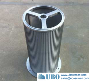 Wedge welded wire mesh screen drum filter