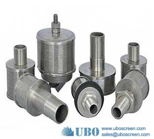 Stainless steel wire mesh water filter nozzle with thread coupling