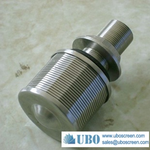 Stainless steel strainer filter nozzle for water treatment