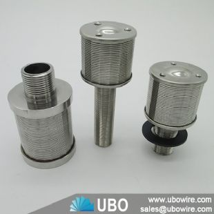 Wedge wire screen filter strainer mixed bed filter nozzle