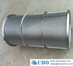Stainless steel wire wrapped welded screen cylinder rotary drum filter