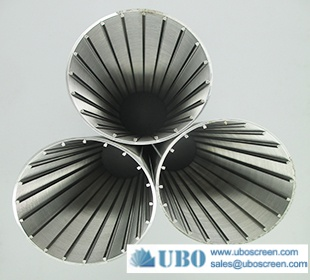SS wire wrapped continuous slotted water well screen tube filter