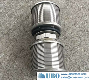 High quality SS 304/316 wire wrapped screen filter strainer