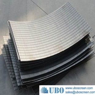 Wedge wire parabolic screen sieve bend screen plate filter