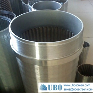 Wedge wire wrapped screen pipe for industrial filtration