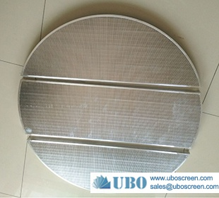 Wedge wire mash tun screen for beer brewery