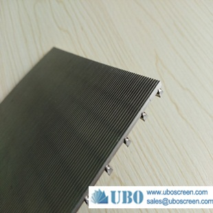 Wedge wire screen panel for industrial filtration