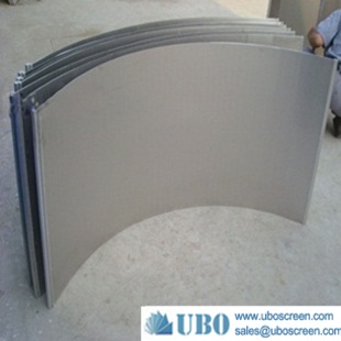 Wedge wire slotted screen curve bend screen
