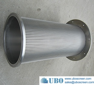 SS slotted wedge wire drum screen