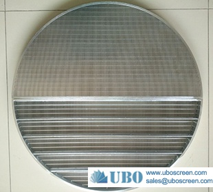 Wedge wire lauter tun false bottom screen