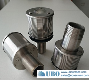 wedge wire sieve steel wire screen filter nozzles