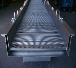 SUS202 flat ss wedge wire screen for process industries