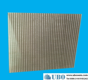 Stainless steel302 wedge wire curved screen for wasterwater treatment