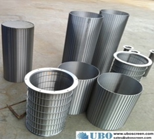 SS304 all welded wedge wire wrapped screen cylinder