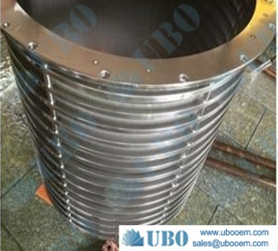SS304L conical centrifuge screens for booster pump stations