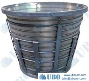 stainless steel pressure screen slotted basket