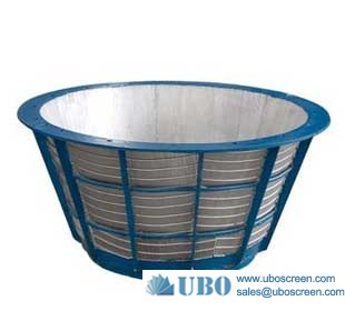 SUS316 wedge wire well screen filter baskets use as Rotary drum Screens