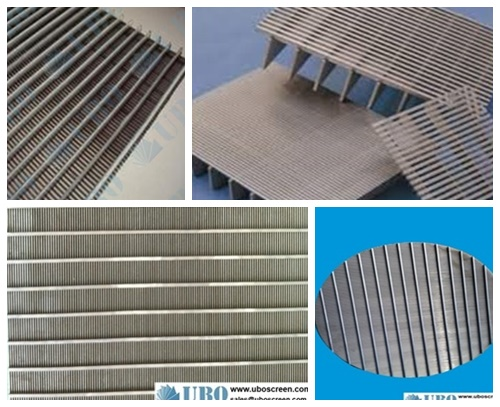 Stainless steel welded slotted <a href='http://www.uboscreen.com/' target='_blank'>wedge wire screen</a> plate panel