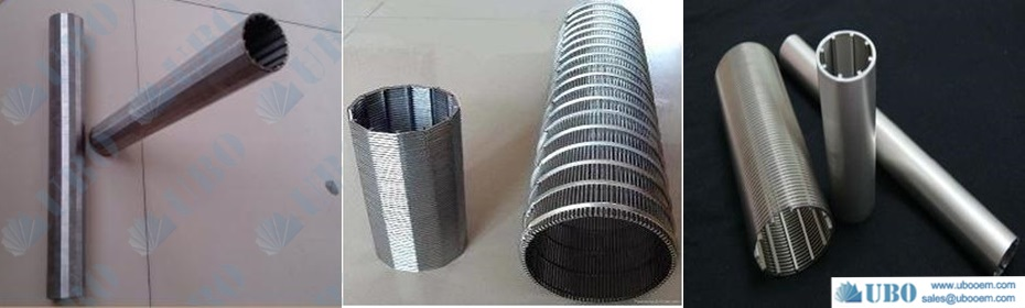 V-shape wire slot screen pipe