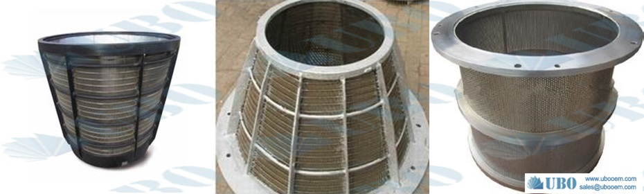 Centrifuge wedge wire mesh sieve screen basket