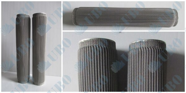 stainless steel pleated <a href='http://www.ubofilter.com/' target='_blank'>filter element</a>s 316