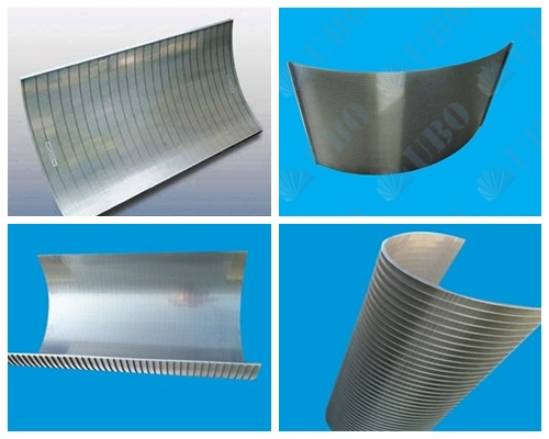 Wedge wire curved screens