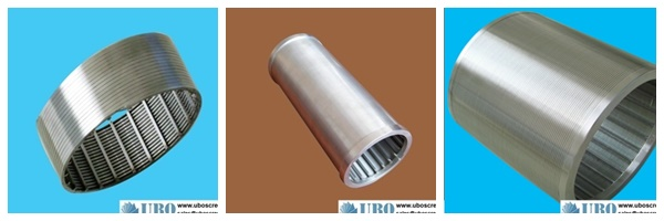 Wedge wire slotted tube