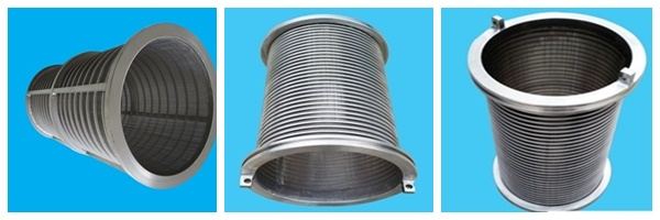 Stainless steel304 wedge wire conical centrifuge basket