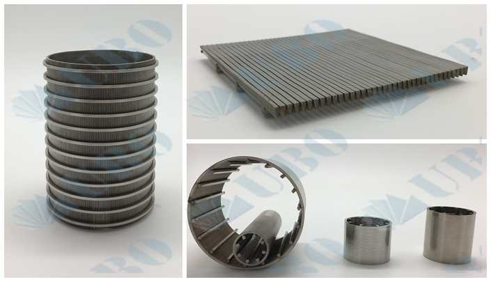 The stainless steel trapezoid wire screen element usage in water treatment industry