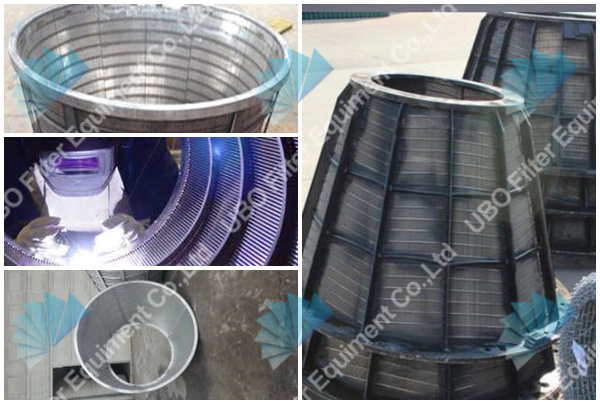 wedge wire baskets for centrifuge machines