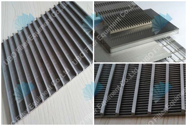 high quality stainless steel flat wedge wire screen panel