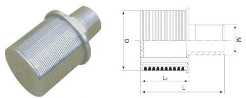 Water treatment filter nozzle