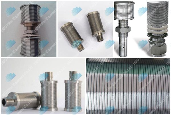 Stainless steel water treatment system filter nozzle wire
