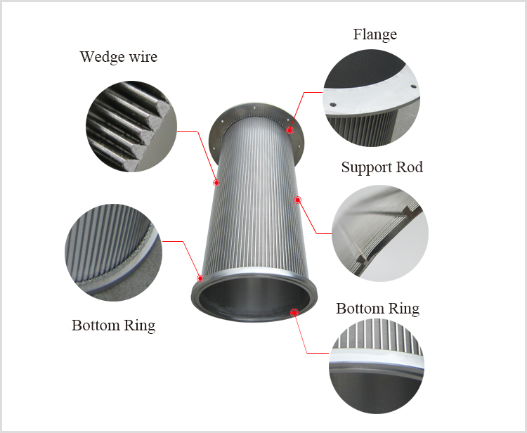 water intake screen cylinder